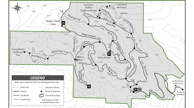 Byrne Milliron Trail Map