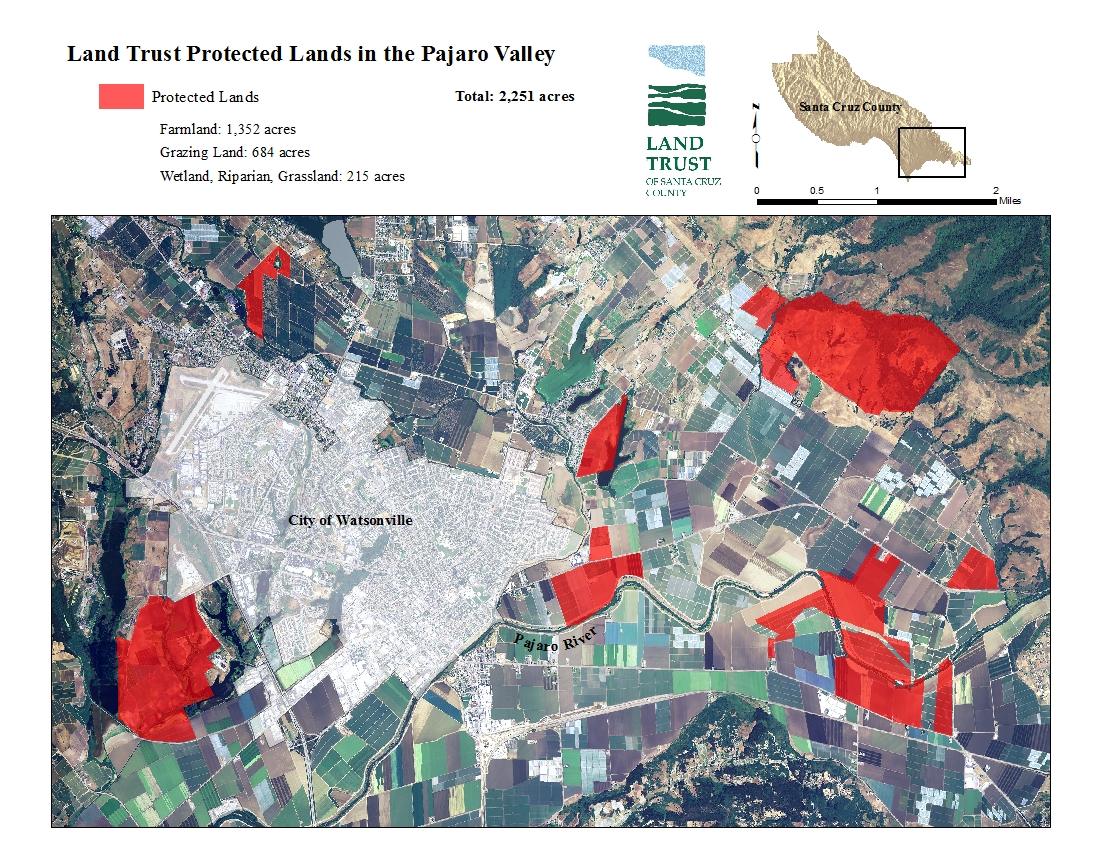 Land Trust Protected Lands In The Pajaro Valley