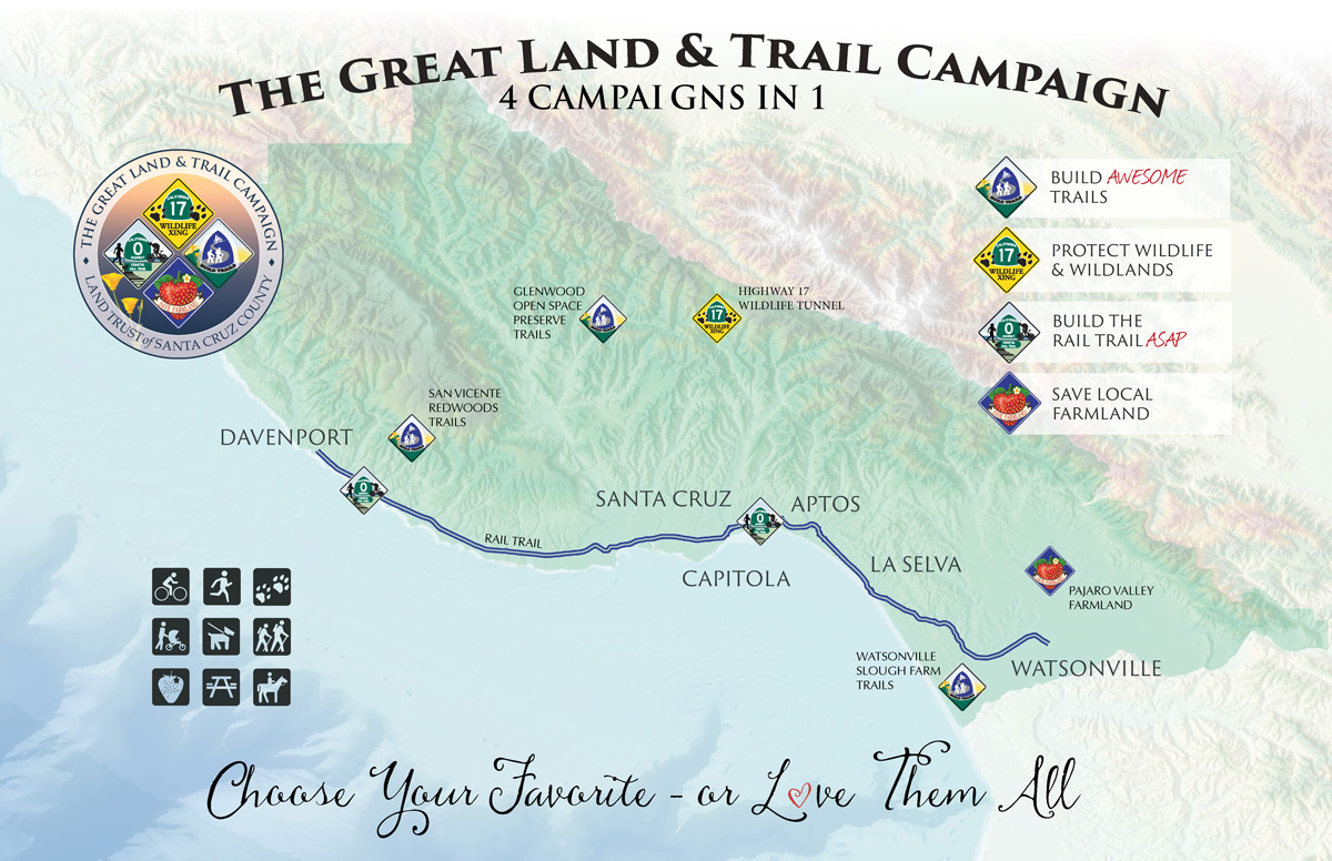 The Great Land & Trail Campaign Map
